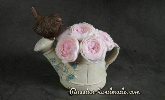 Английские розы из полимерной глины (4)