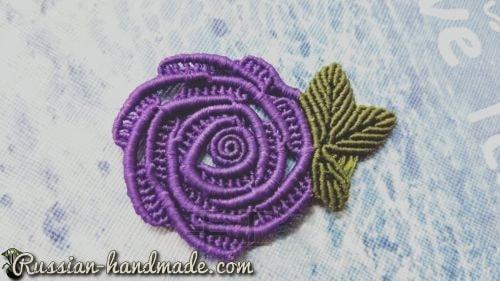 Плетение розочки в технике макраме (4)