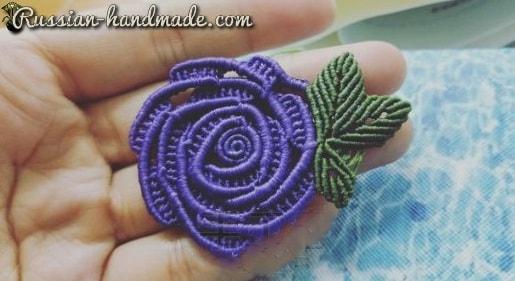 Плетение розочки в технике макраме (6)