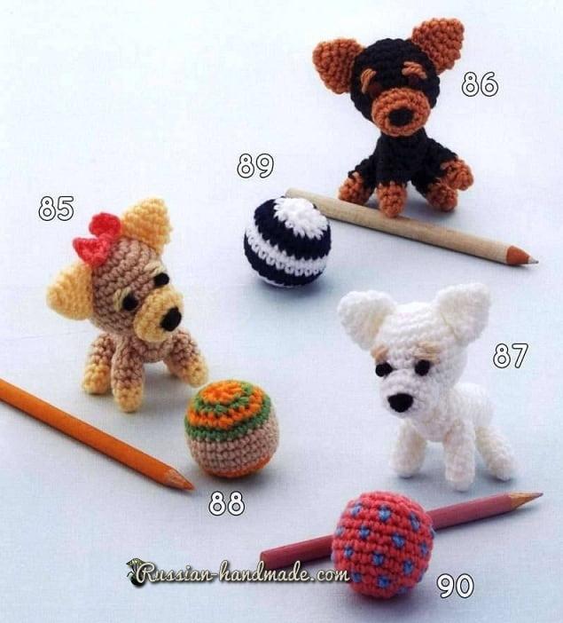 Собачки амигуруми. Схемы вязания (1)