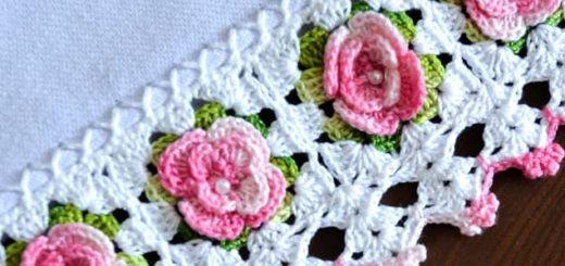 Кайма с розочками для украшения полотенца (2)
