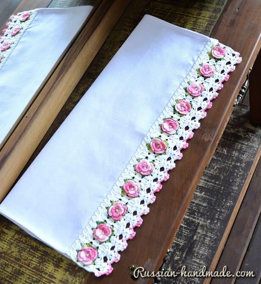 Кайма с розочками для украшения полотенца (3)