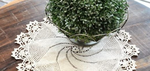 Крючком. Салфетка для круглого столика (1)