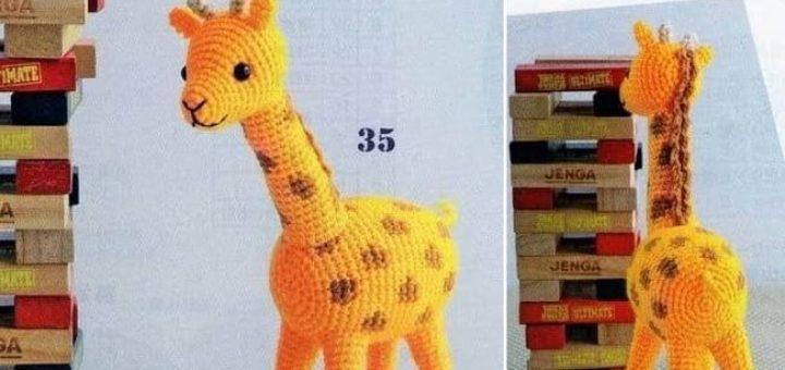 Жираф крючком. Схемы вязания амигуруми