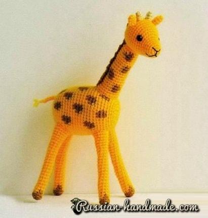 Жираф крючком. Схемы вязания