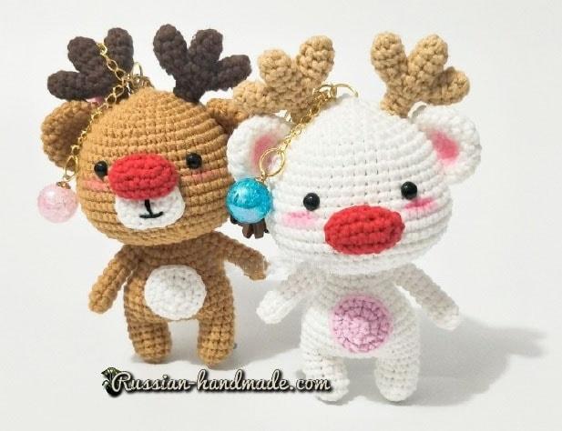Рождественские олени амигуруми (2)