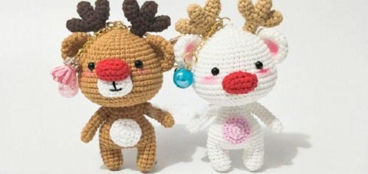 Рождественские олени амигуруми (3)