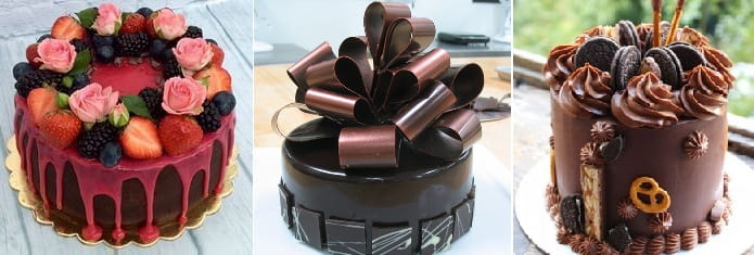 Украшение шоколадного торта (1)