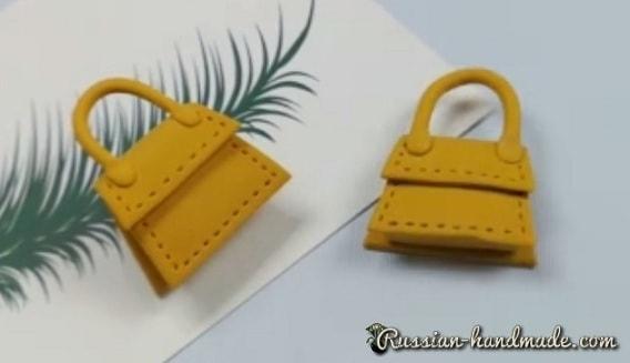 Лепка сумочки из полимерной глины
