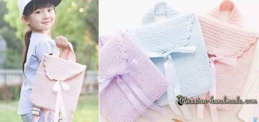 Сумка-рюкзак крючком для девочки (1)