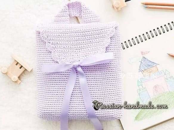 Сумка-рюкзак крючком для девочки (2)