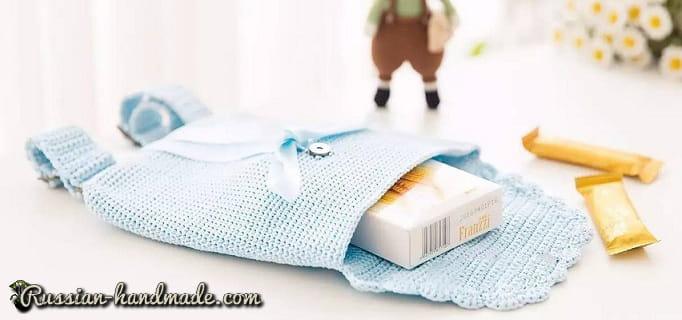 Сумка-рюкзак крючком для девочки (3)