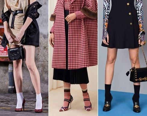 носки или гольфы с туфлями, босоножками