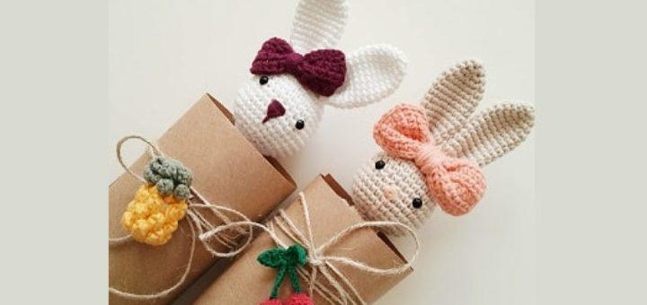 Бантик крючком для вязаной игрушки (3)