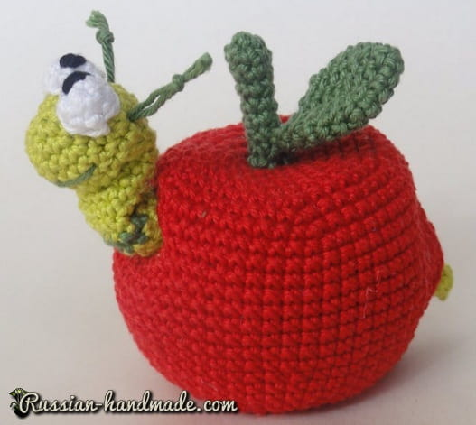 Червивое яблочко крючком. Описание вязания (1)