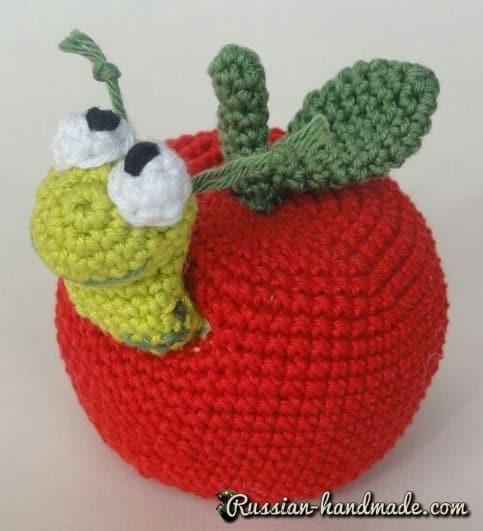 Червивое яблочко крючком. Описание вязания (2)