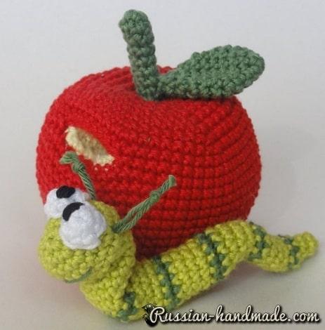 Червивое яблочко крючком. Описание вязания (3)