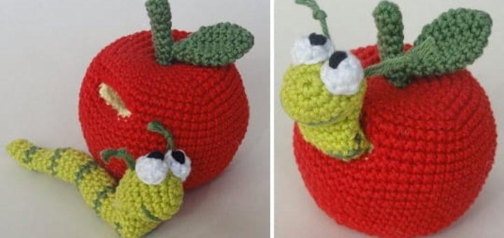 Червивое яблочко крючком. Описание вязания (4)