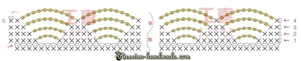Браслет крючком в технике вязание с бисером (2)