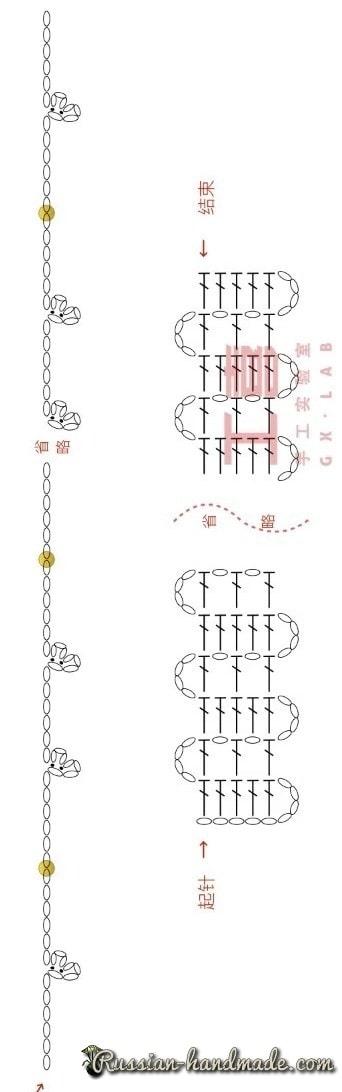 Коллар крючком - украшение на шею (5)