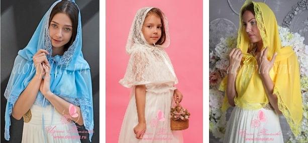 Ниспадающие платки в церковь - стильное оригинальное решение (2)
