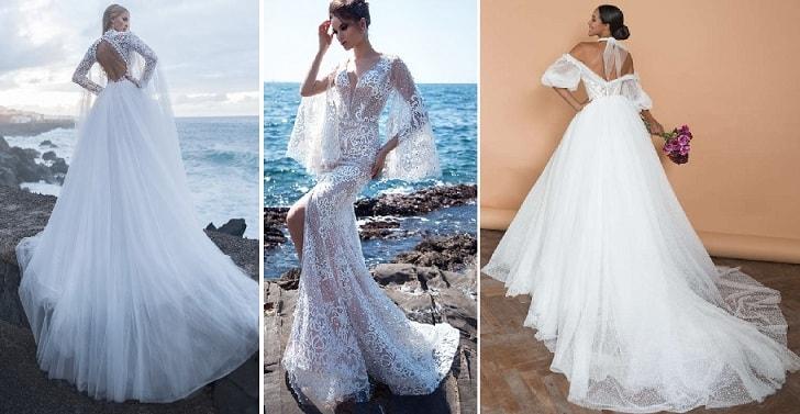 Модные фасоны кружевных свадебных платьев (1)