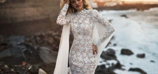 Модные фасоны кружевных свадебных платьев (2)
