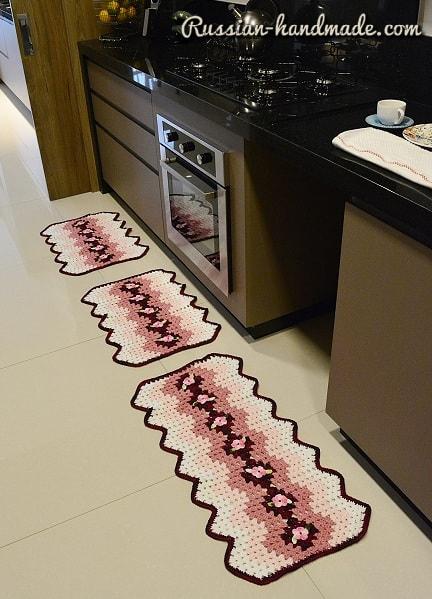 Набор кухонных ковриков крючком (1)
