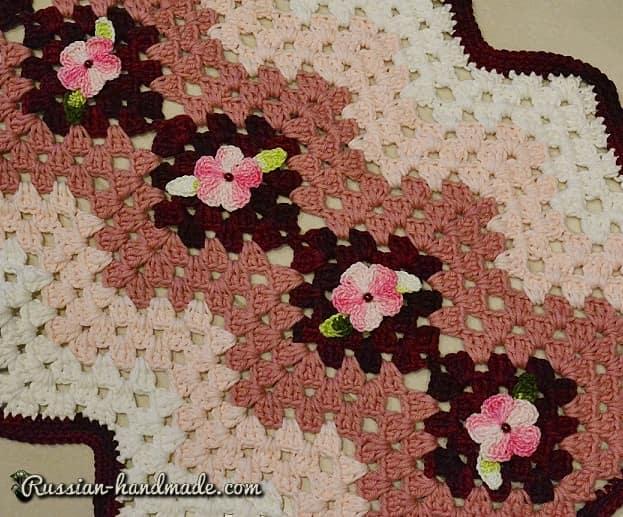 Набор кухонных ковриков крючком (4)