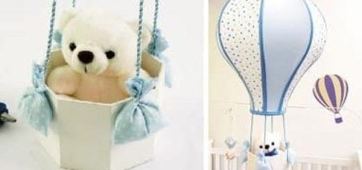Для детской комнаты. Воздушный шар из старого абажура (1)