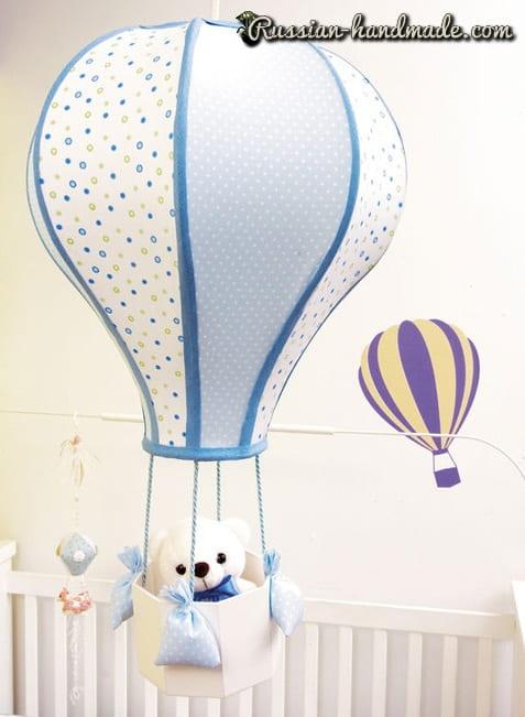Воздушный шар из старого абажура (3)