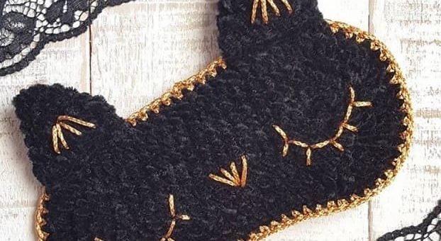 Детская маска для сна крючком. Схемы вязания (2)