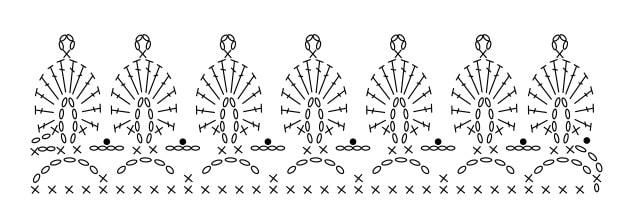 Салфетка-дорожка в технике мозаичное вязание крючком (1)