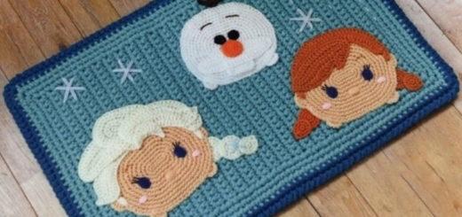 Детский коврик с аппликацией крючком (1)