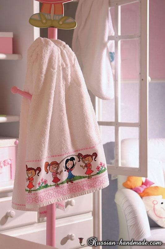 Вышивка для детского банного полотенца (2)